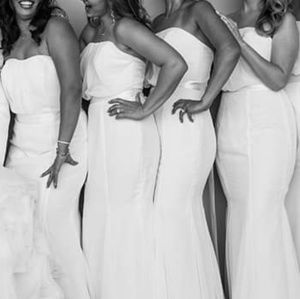 Bridesmaids dress or simple wedding gown